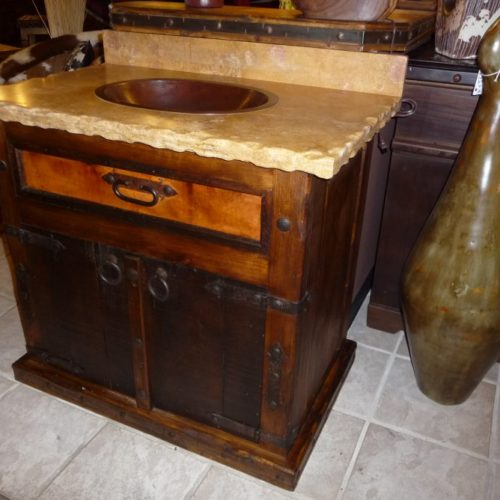 Las Haciendas Vanity with Copper Drawer
