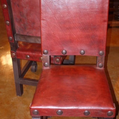 Argentina Leather Chair in Red Guinda