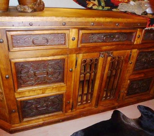 tooled leather Buffet