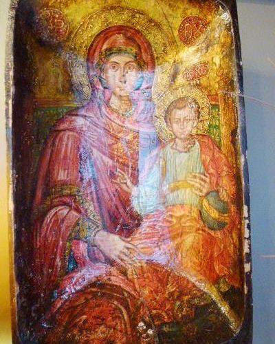 Byzantine Religious Art on Olive Bowl