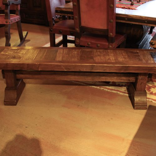 Mesquite Inlay Pine bench