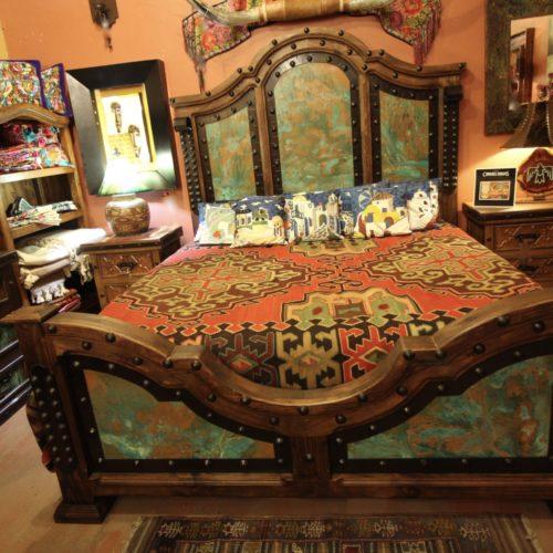 acid-wash copper bed