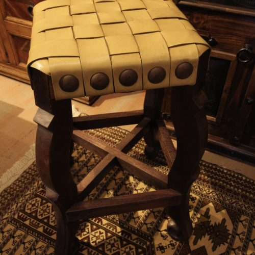 Argentina Woven Stool in Yellow