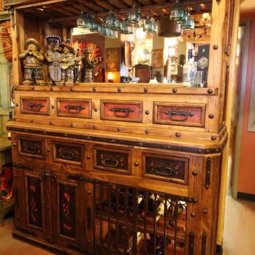 Tooled Leather Counter Bar