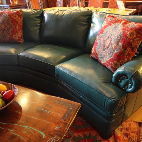 Monte Cristo Caribe Leather Conversational Sofa