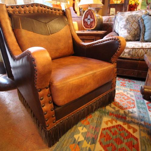Alejandra Western Fringe Leather Chair