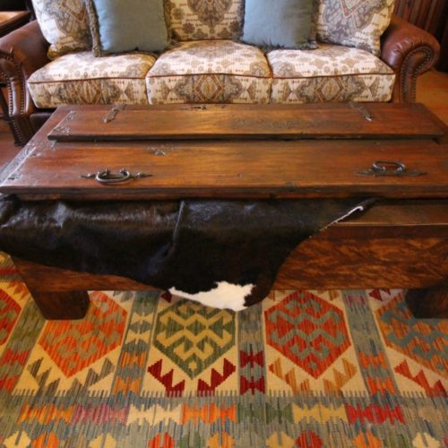 Old Door Storage Chest Coffee Table