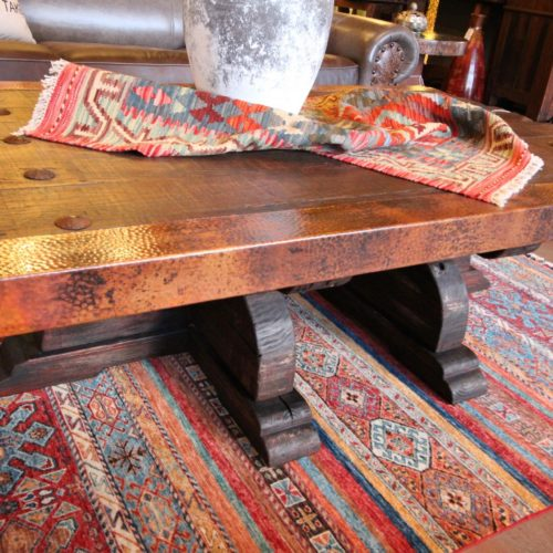 Old Ranch Gate Copper Coffee Table