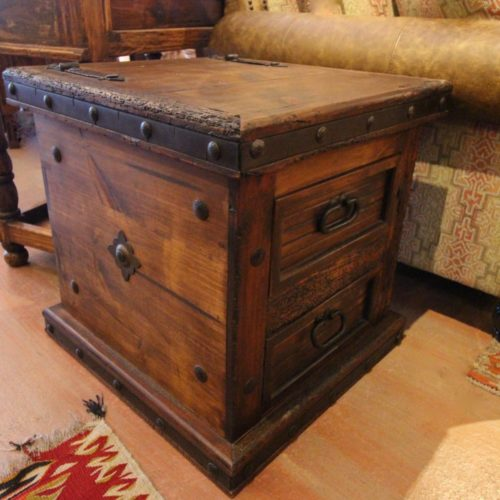 Mock Trunk Hacienda End Table