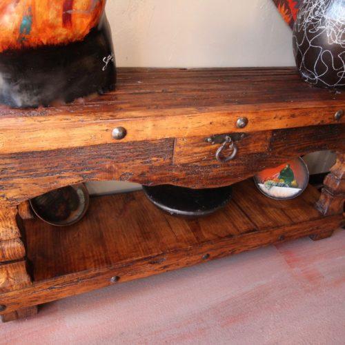 Old Colonial Door Sofa Table