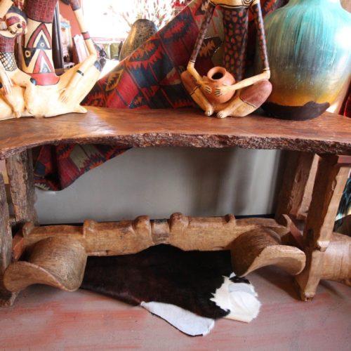 Free Form Old Yoke Sofa Table