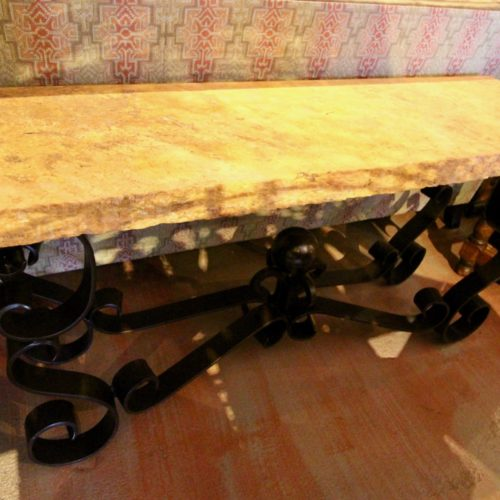 Travertine Marble Sofa Table