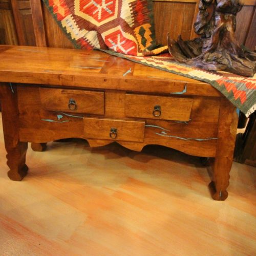 Mesquite With Turquoise Inlay Terry Sofa Table