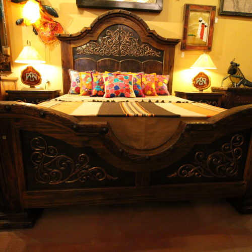 Ornate Black Copper Bed