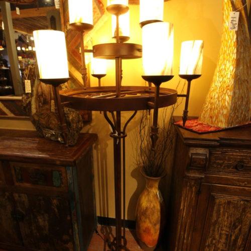 Aros Floor Lamp with Onyx Shades