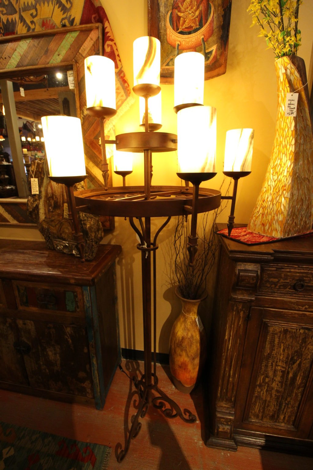 25 Aros Floor Lamp With Onyx Shades The Rustic Gallery