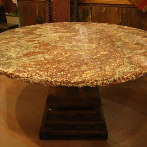 Burgundy Onyx Round Table