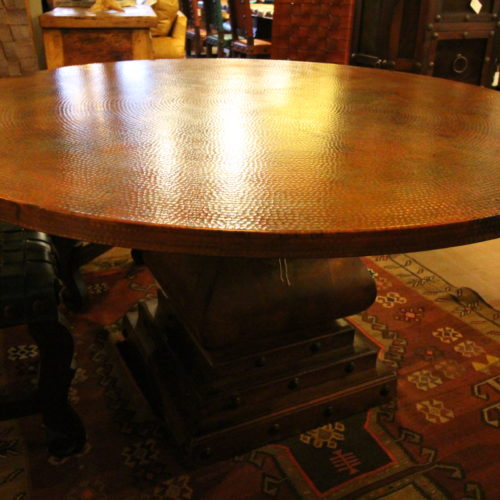 Round Patina Copper Table
