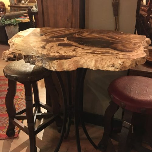 Free Form Onyx Slab Bistro Table