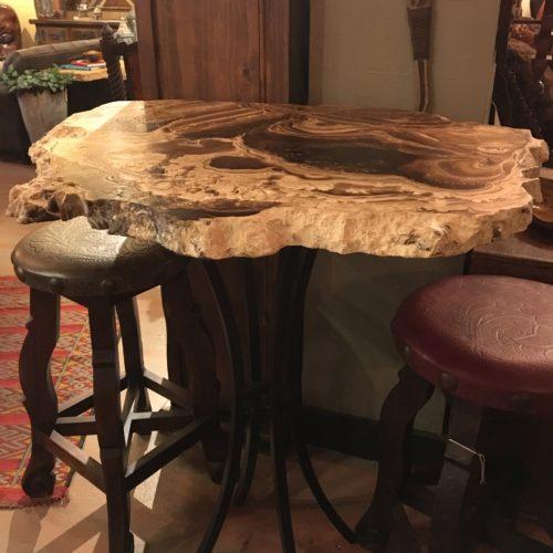 Free Form Onyx Slab Bistro Table