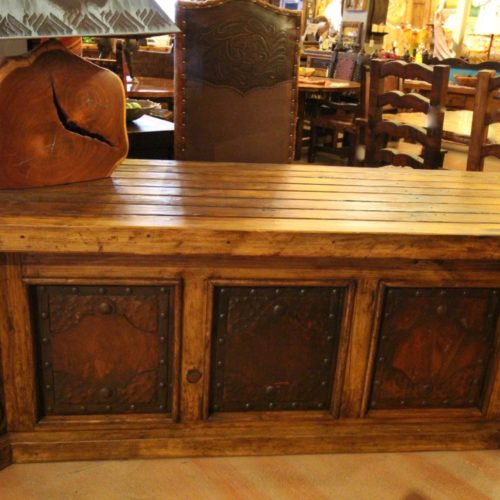 Hacienda Desk with Iron Inlay Panels