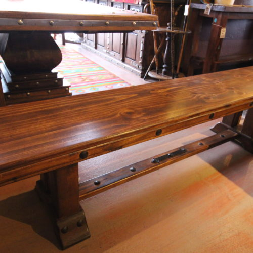 Pine Backless Bench