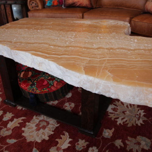 Free Form Natural Onyx Coffee Table