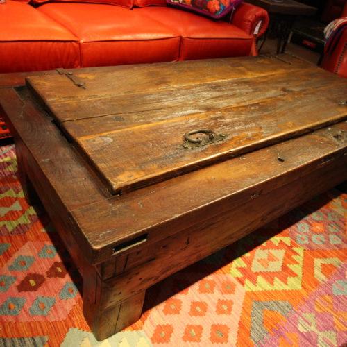 Authentic Old Door Lift-Top Coffee Table