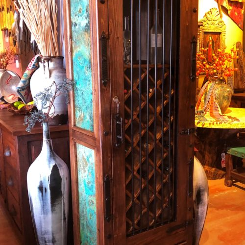 Hacienda Acid Washed Copper Wine Cabinet