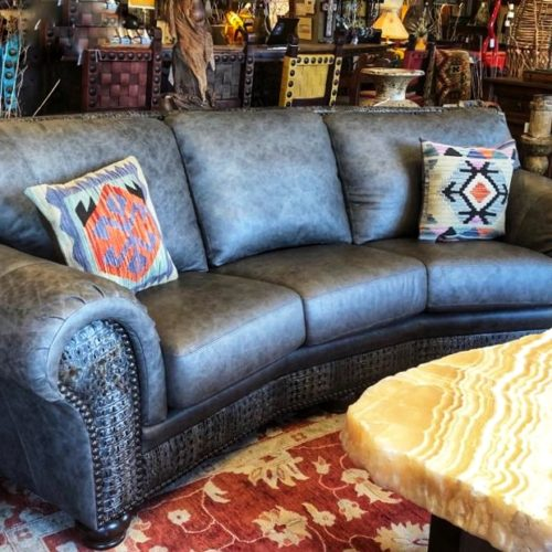Jefferson Croc Embossed Conversational Sofa