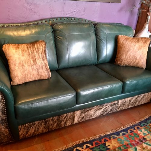 """""""The Look"""" Leather & Cowhide Sofa"""