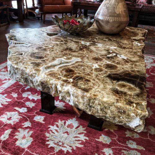 Free Form Onyx Coffee Table