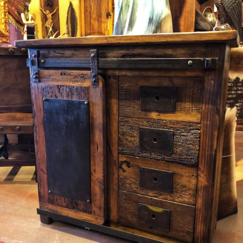 Sliding Barn Door Small Buffet