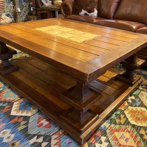 Lathed Legs Coffee Table