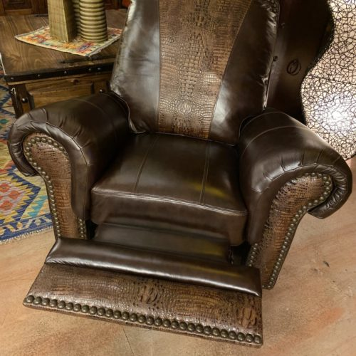 Waller Rusty Nail Croc Glider & Swivel Recliner