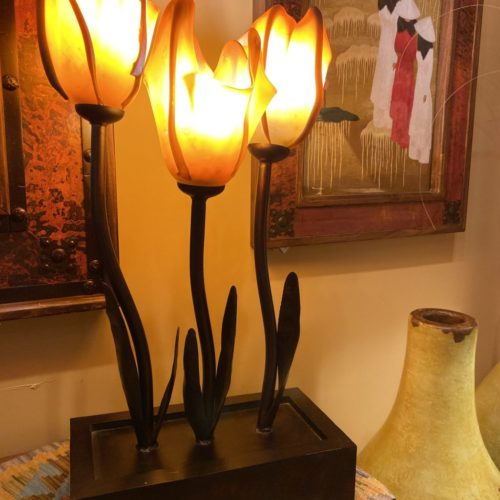 Blow Glass Tulips Table Lamp
