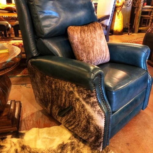 Malone Teal Swivel & Glider Recliner
