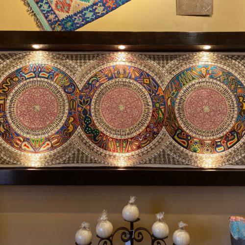 Huichol Yarn & Tule Art with Touch Light