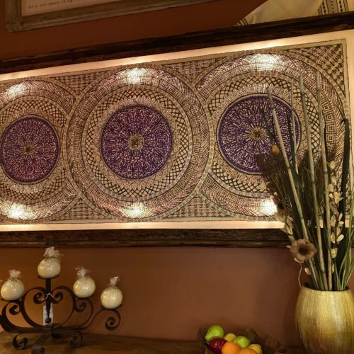 Amate Paper & Tule Art with Touch Light