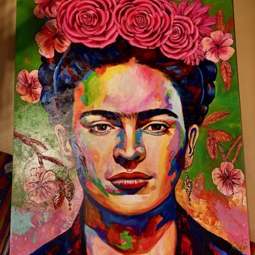 Frida's Pink Flowers