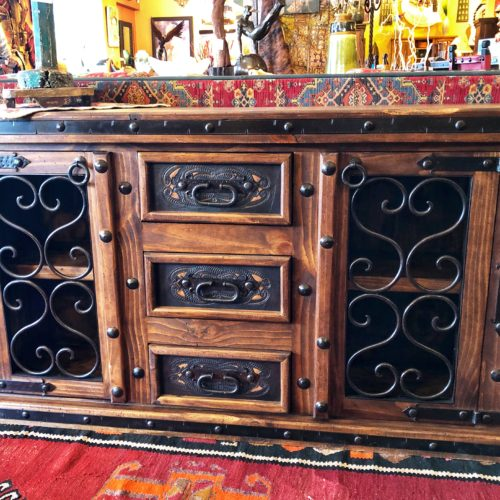 Cesi Tooled leather TV Console (Model #1)