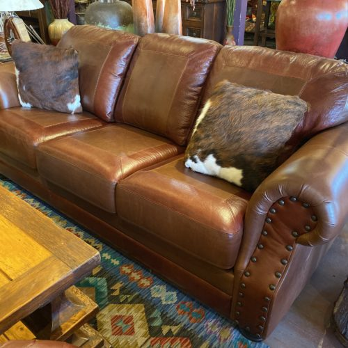 Hunter Red Brown Cowboy Sofa