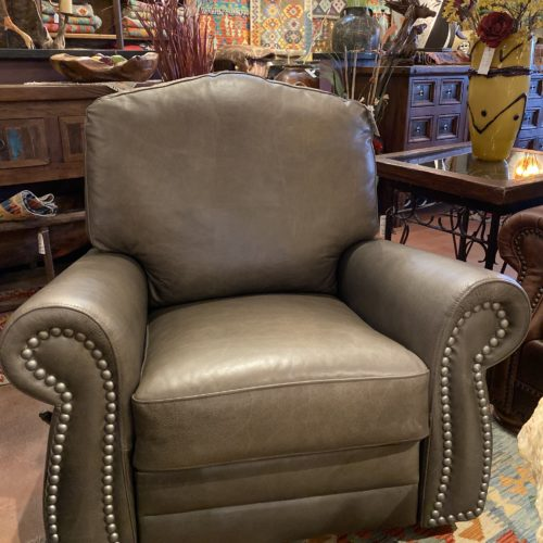 """""""The Look"""" Grey Taupe Glider & Swivel Recliner"""
