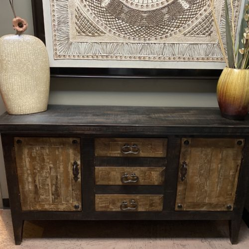 French Provincial Buffet in Black Wash