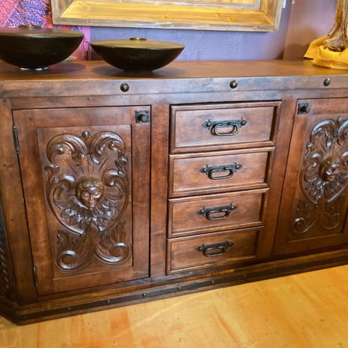 Hand-Carved Mesquite Buffet