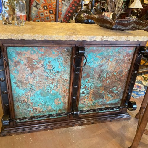 Acid Washed Copper Mesquite Bar