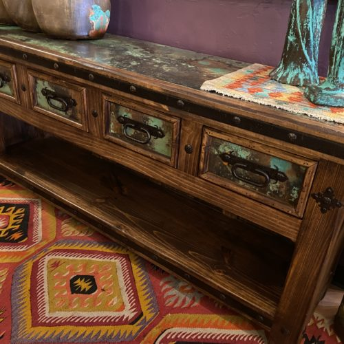 Hacienda Acid Washed Copper TV Console