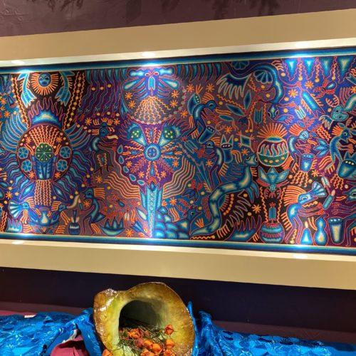"Huichol Yarn Wall Art: ""Bliss"""
