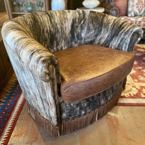 Western Dallas Swivel Barrel Chair