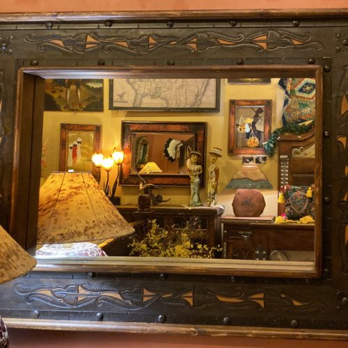 Hacienda Tooled Leather Mirror
